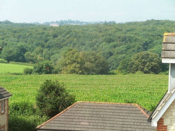 View from the house towards the Brecon Breacons