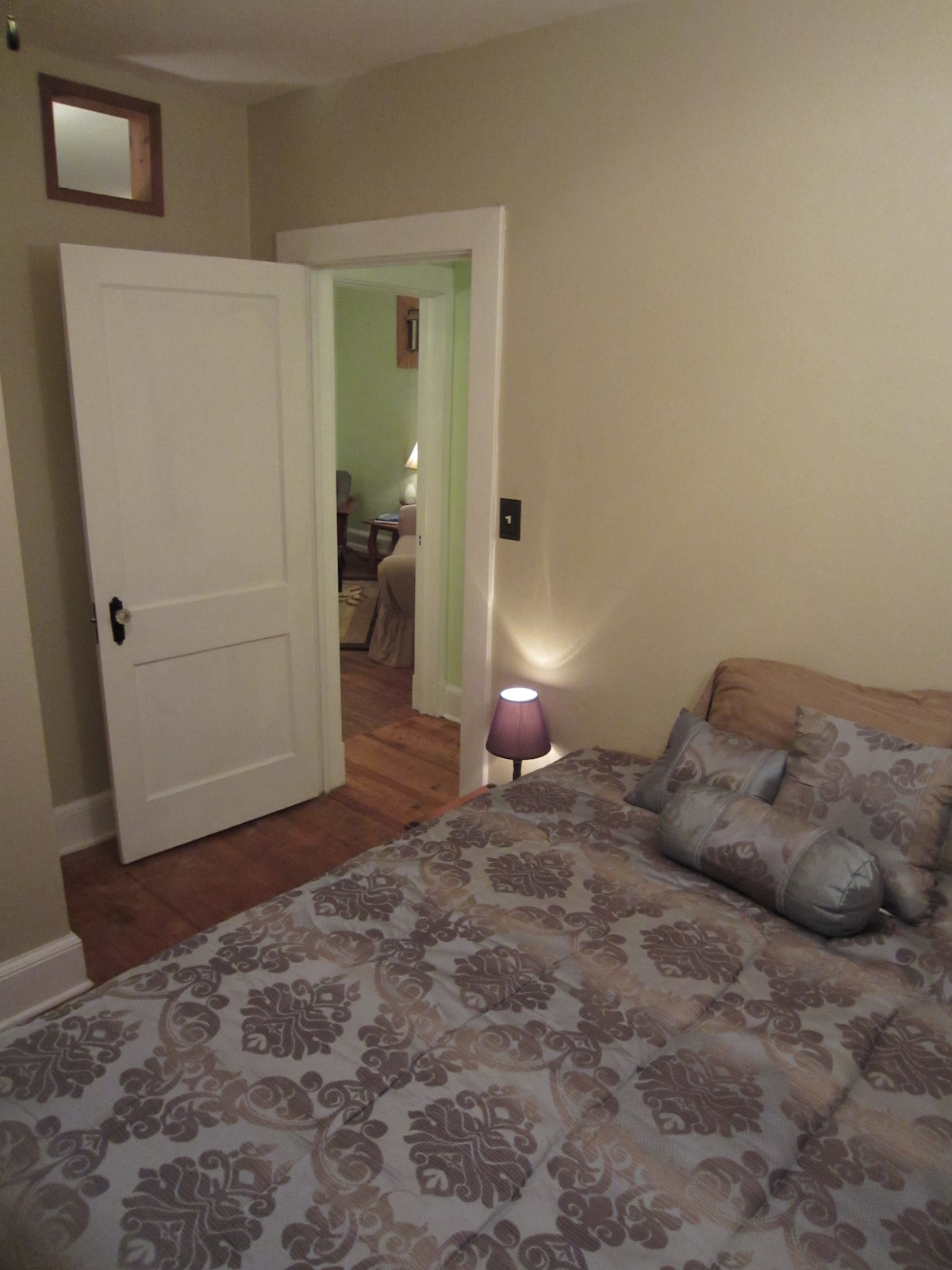 Second bedroom looking toward living room.