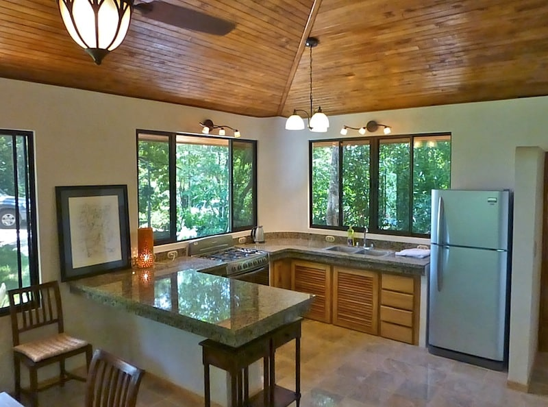 Open kitchen with granite Tops