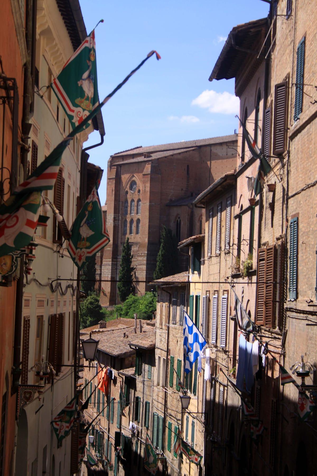 The Santa Caterina street