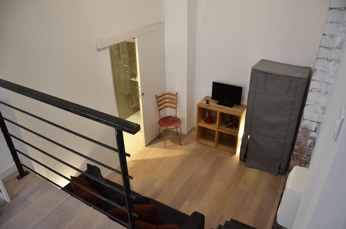 Studio/loft proche centre Cannes