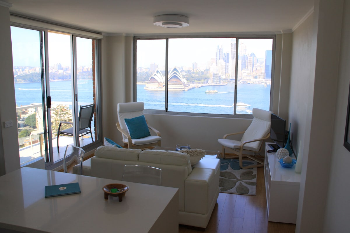 Lounge with view through window