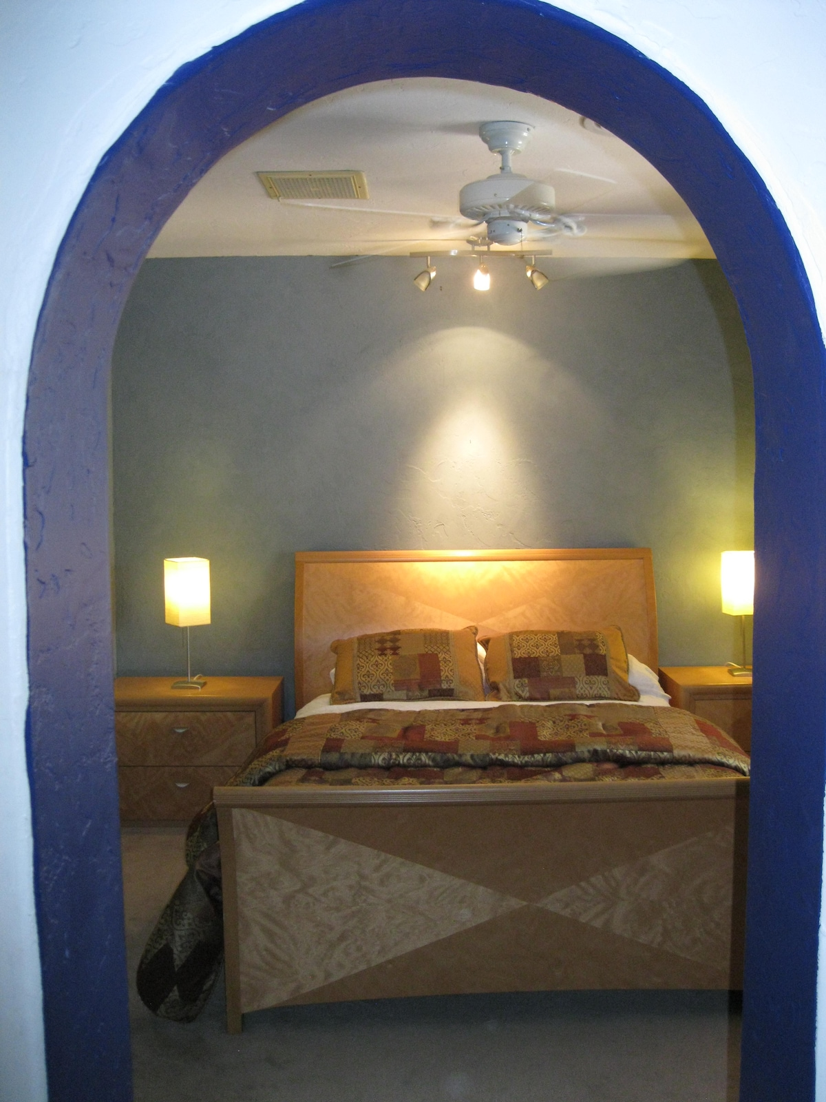arched entry to master bedroom
