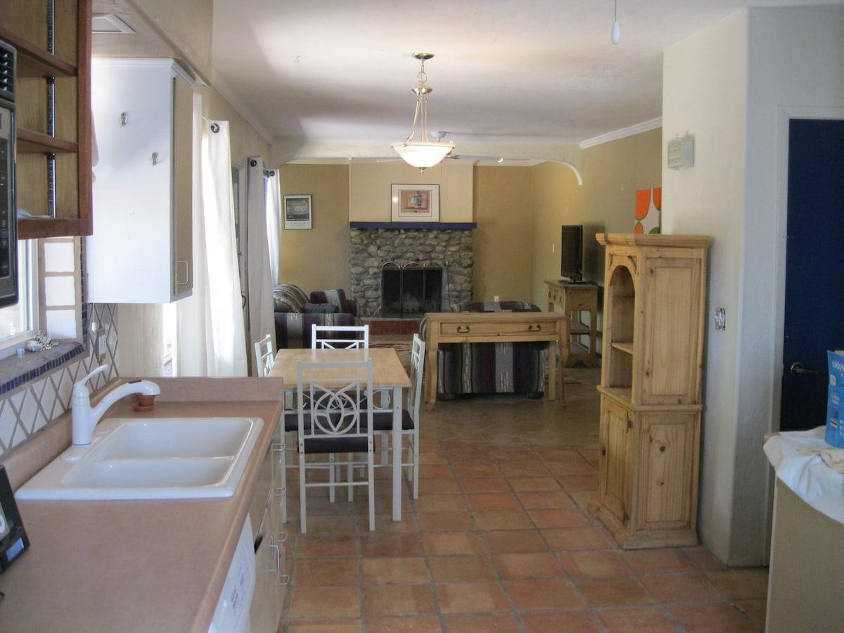 open floor plan - kitchen and living room area