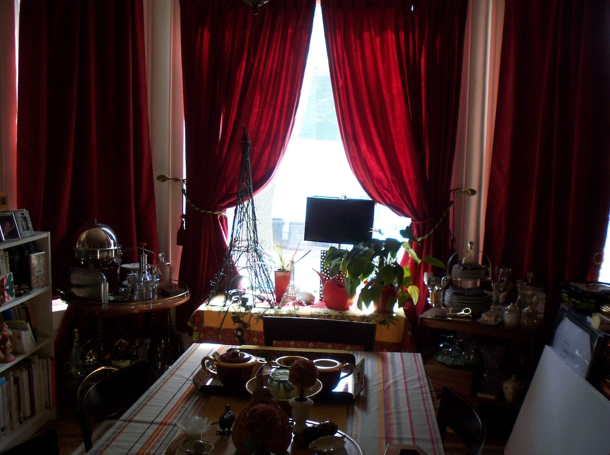 Summer morning looking out of dining room