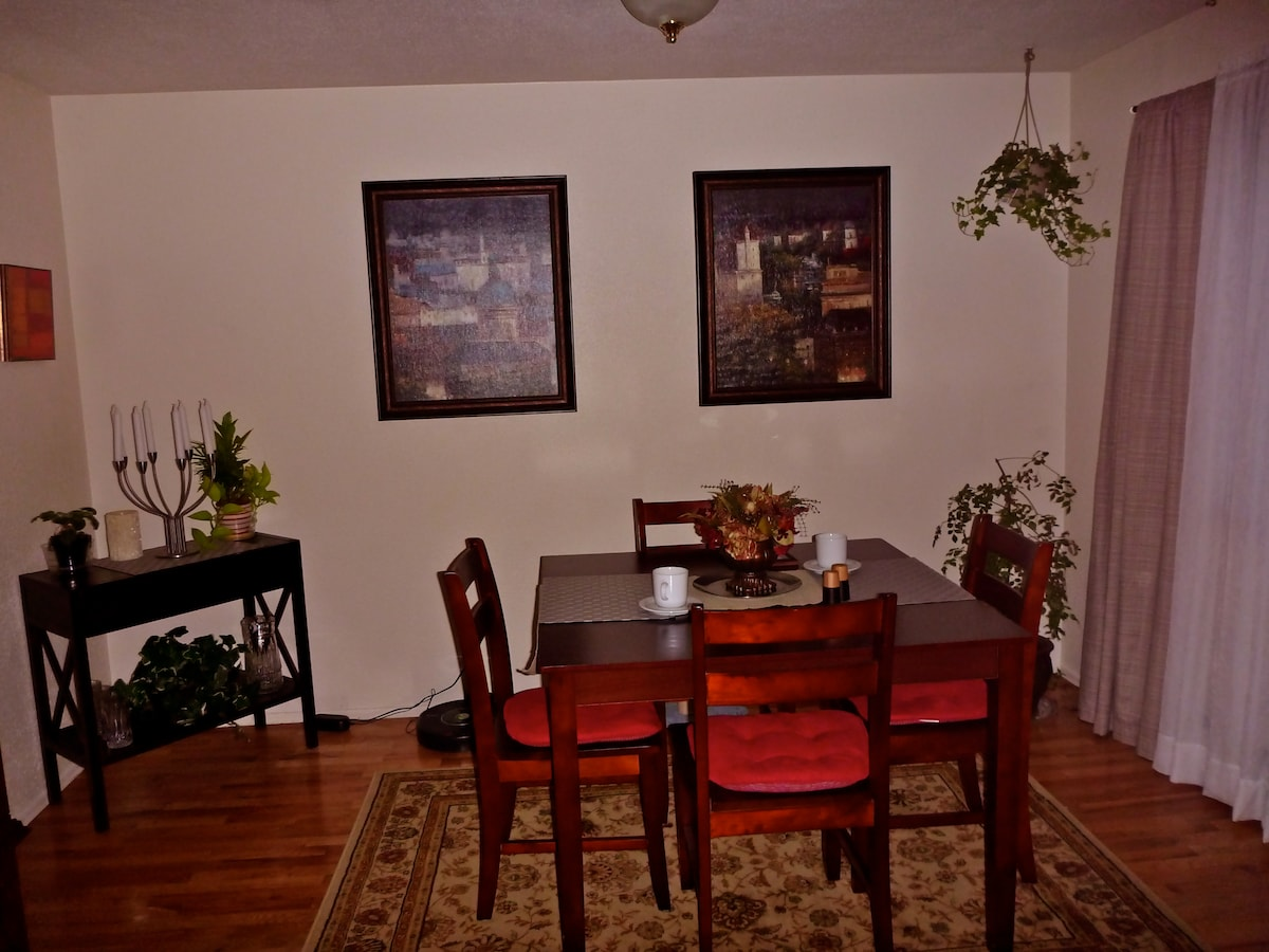 Use of the Dining Room, Laundry, and Kitchen of course