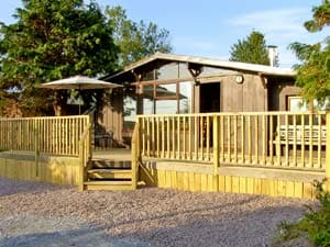 The front of the log cabin in all its glory!