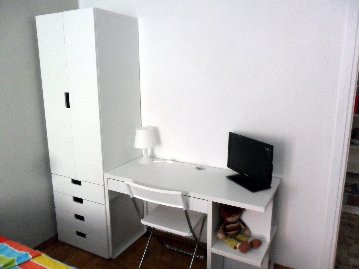 your room and a small table for tablet or laptop with television