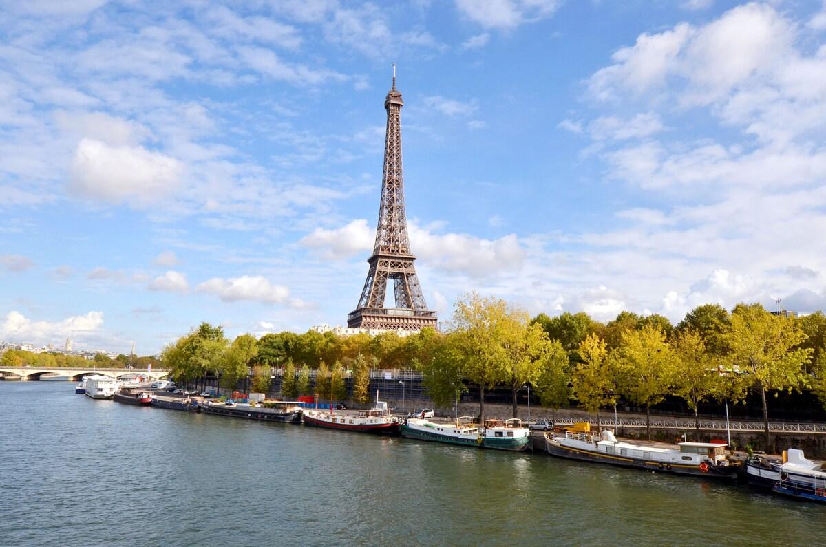 Houseboat/péniche Eiffel Tower