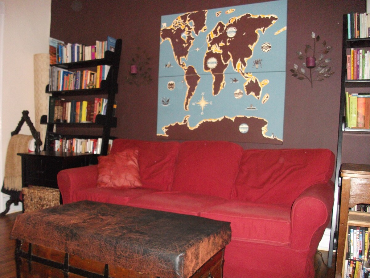 one side of our living room...
