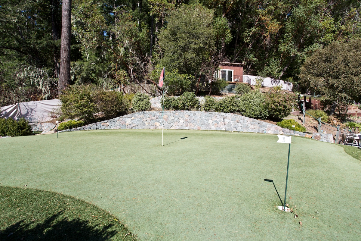 Large Putting Green area in garden.