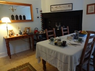 Dining and breakfast room with tea and coffee making facilities for guests