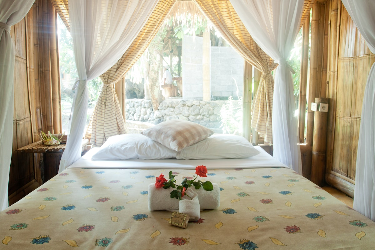 Eco-friendly Bamboo Cottages with plenty of Natural Light (Bedroom Type A).