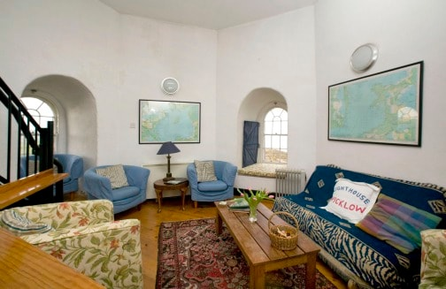 Sitting room, Wicklow Lighthouse.- (website hidden)
