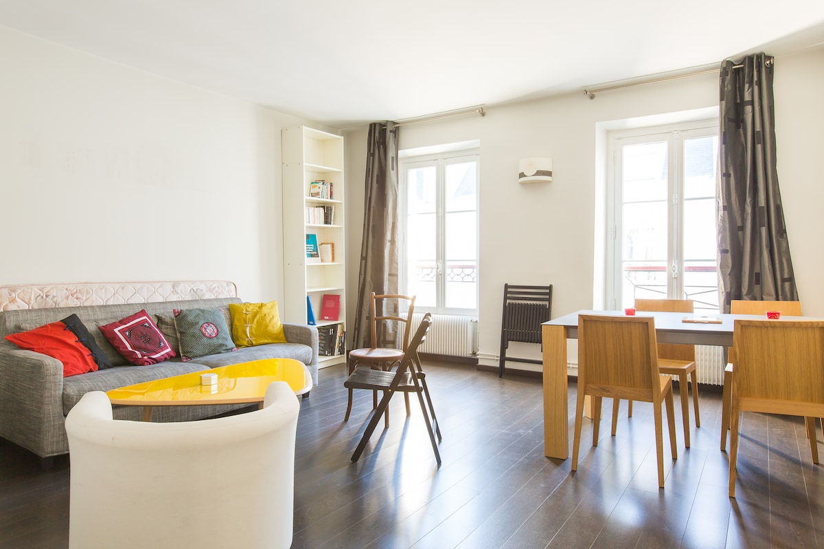 Design parisian flat,heart of Paris