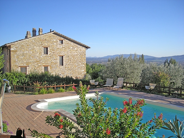 The villa from the pool