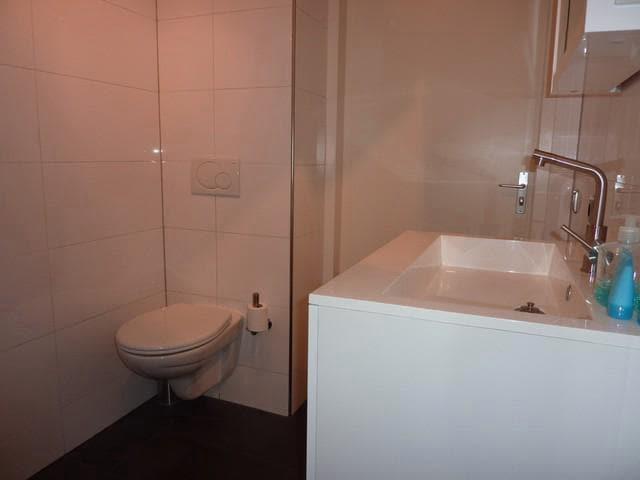 Moderne badkamer, incl. toilet.