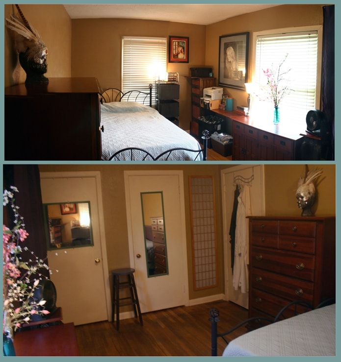 Rm.2: Comfortable queen bed, sunny, large, hardwood floors.