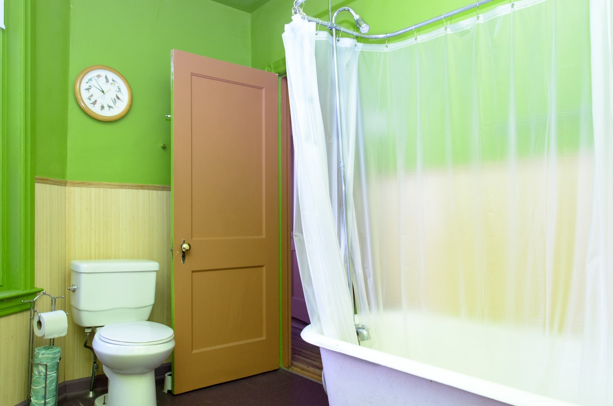 Third floor bathroom, shared with other guests, or private if you rent entire third floor