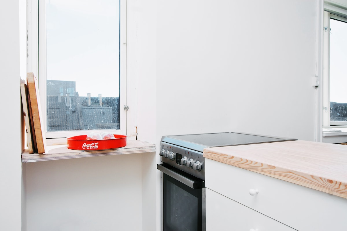 Kitchen and stove (electric)