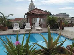 This is the roof and the pool area. Amasing view of the Plaza, the ocean and the City.