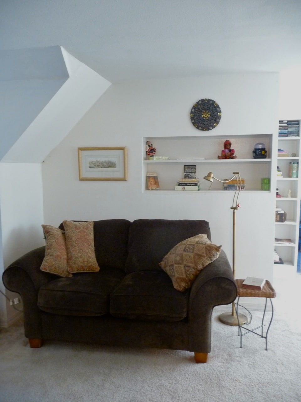 Part of the sitting room - also has a small tv and lots of books.