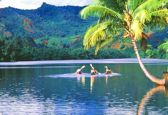 Kayaking in Kauai on the Wailua River just over the ridge from our home.