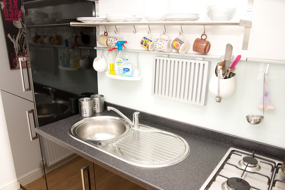 Fully equipped kitchen if you like to cook, washing machine too
