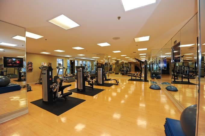 beautiful gym with free celebrity personal trainer in evenings