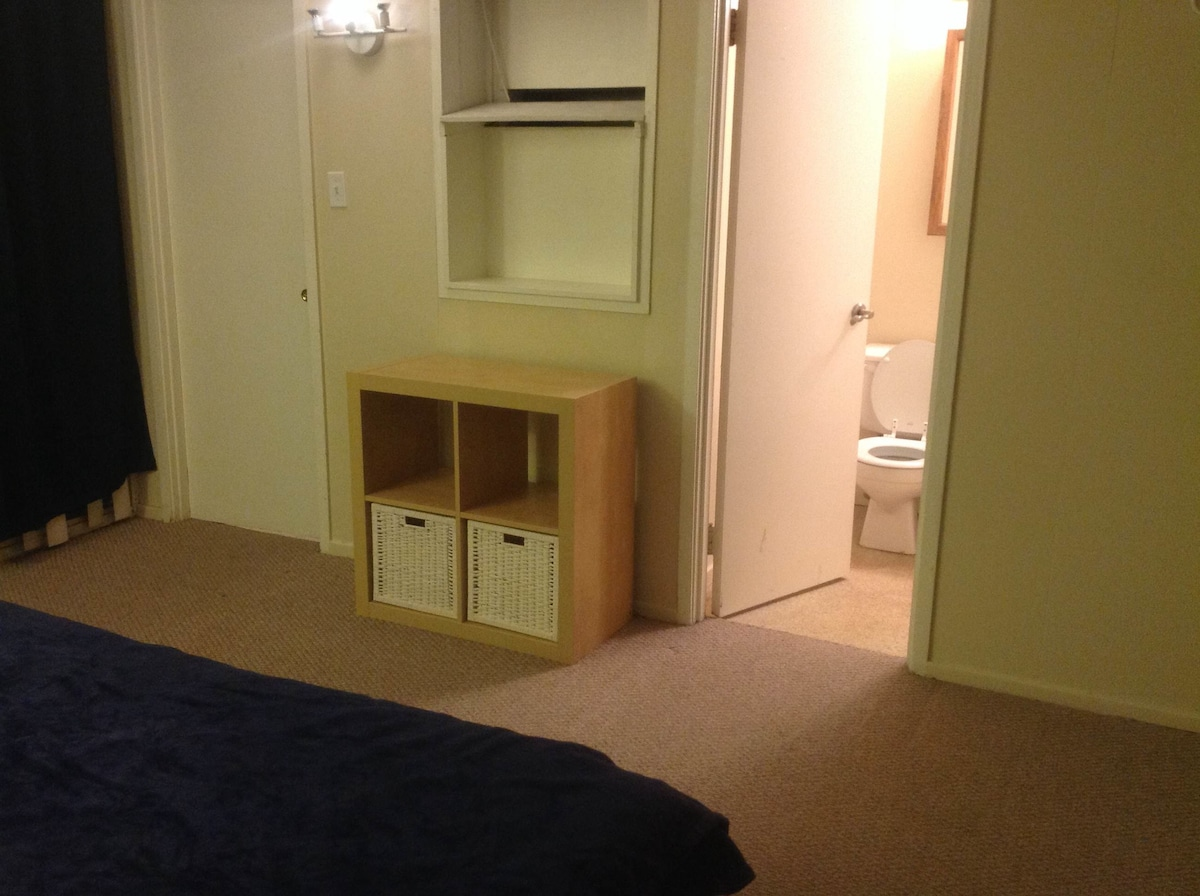 Laundry storage & Toilet perspective from room
