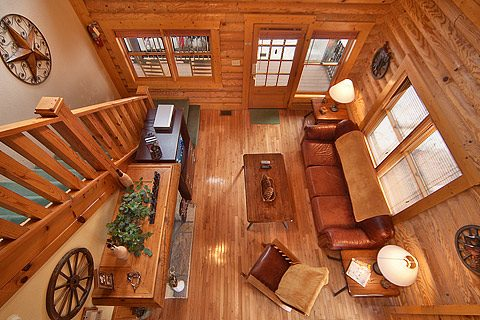 View of Living Room from upstairs. Room for everyone.