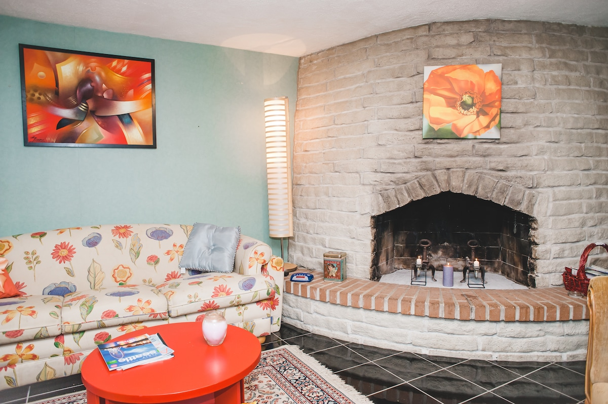 The family room where you can meet other guests or relax on your own.