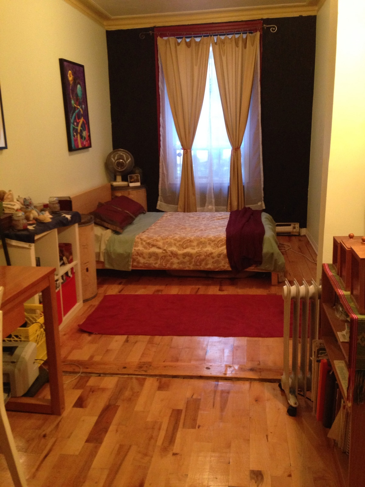 There are two bedrooms with double beds