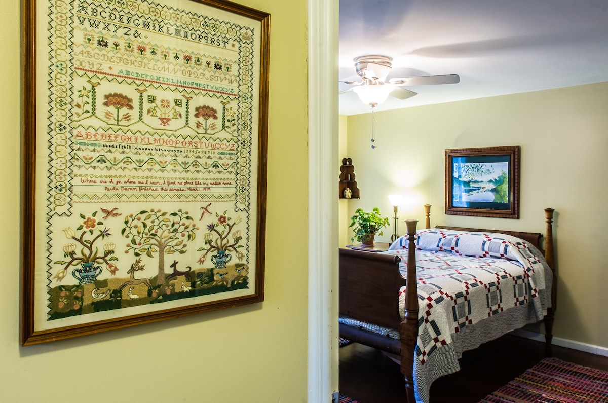 This is your room, with comfortable double bed,