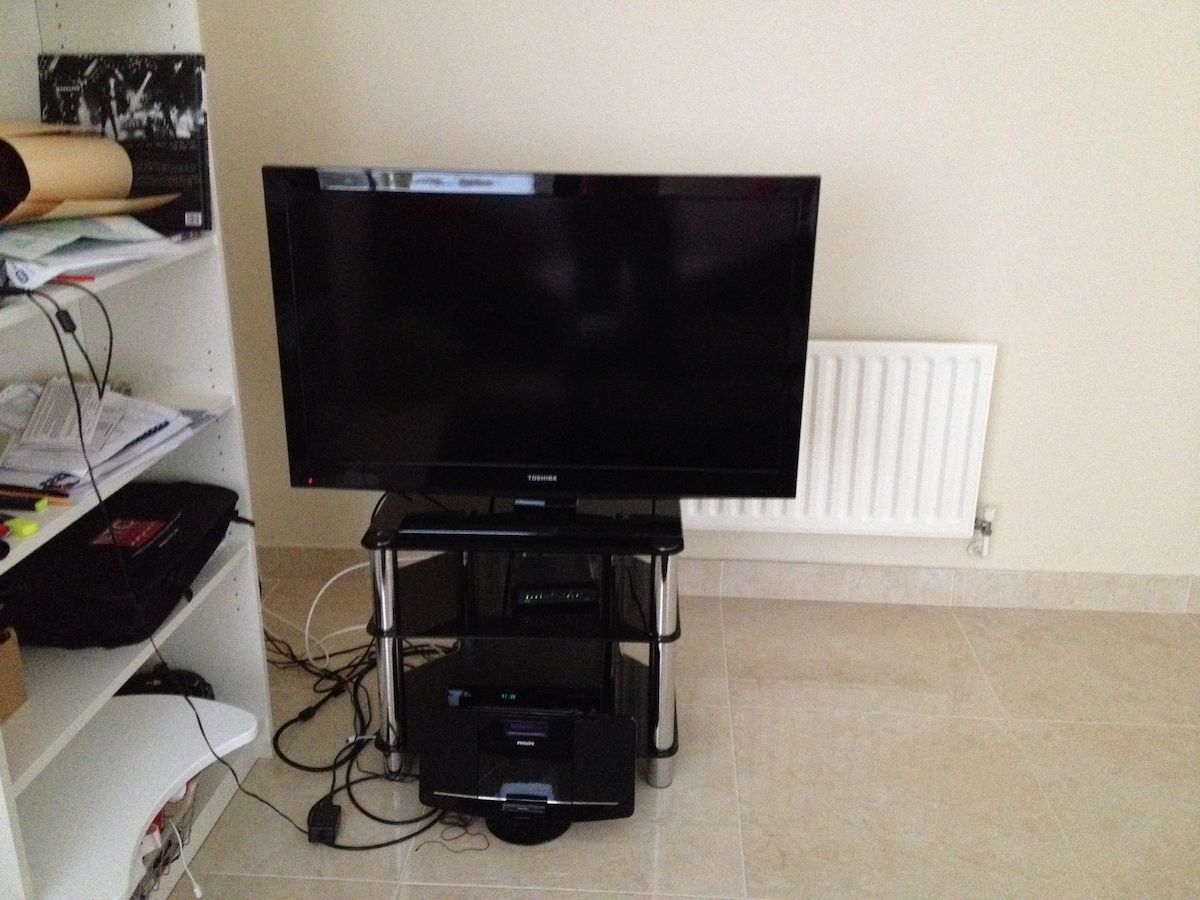 Tv set with broadcast package, internet
