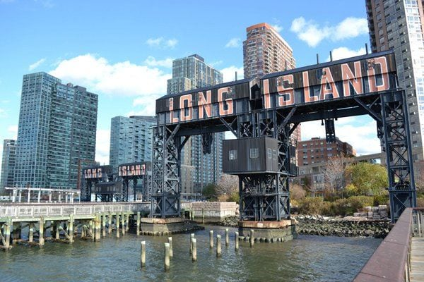 Long Island City piers - the location to pick up the East River Ferry to Brooklyn and the Financial District