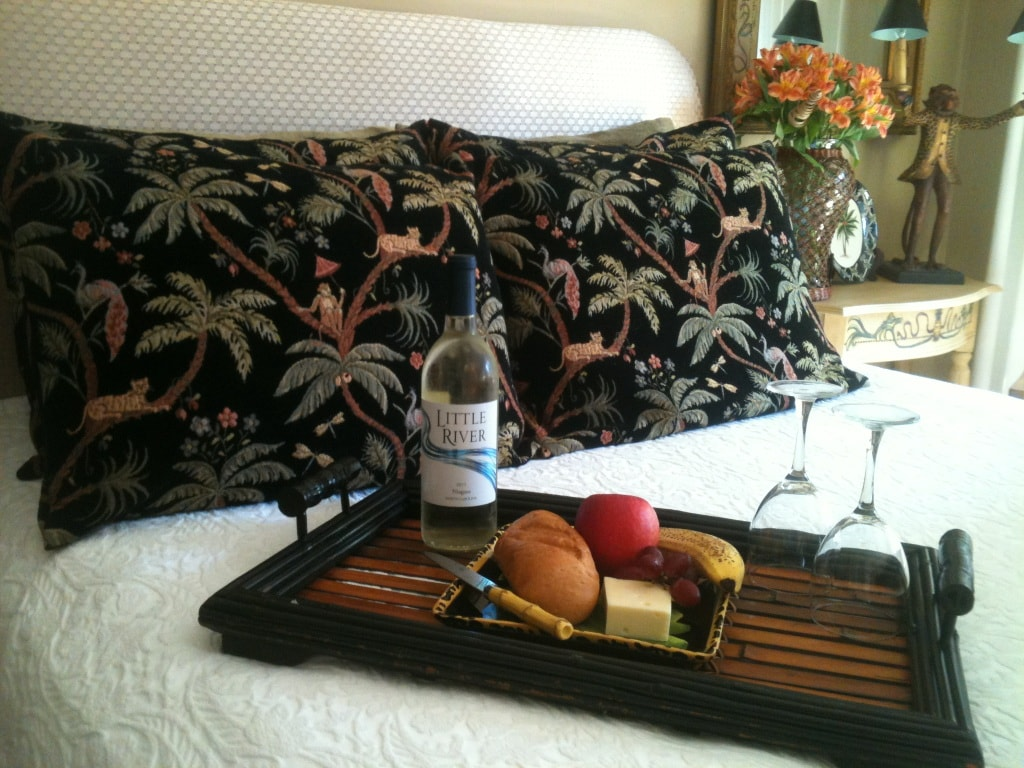 Enjoy a little wine and cheese snack in your Guest Suite!