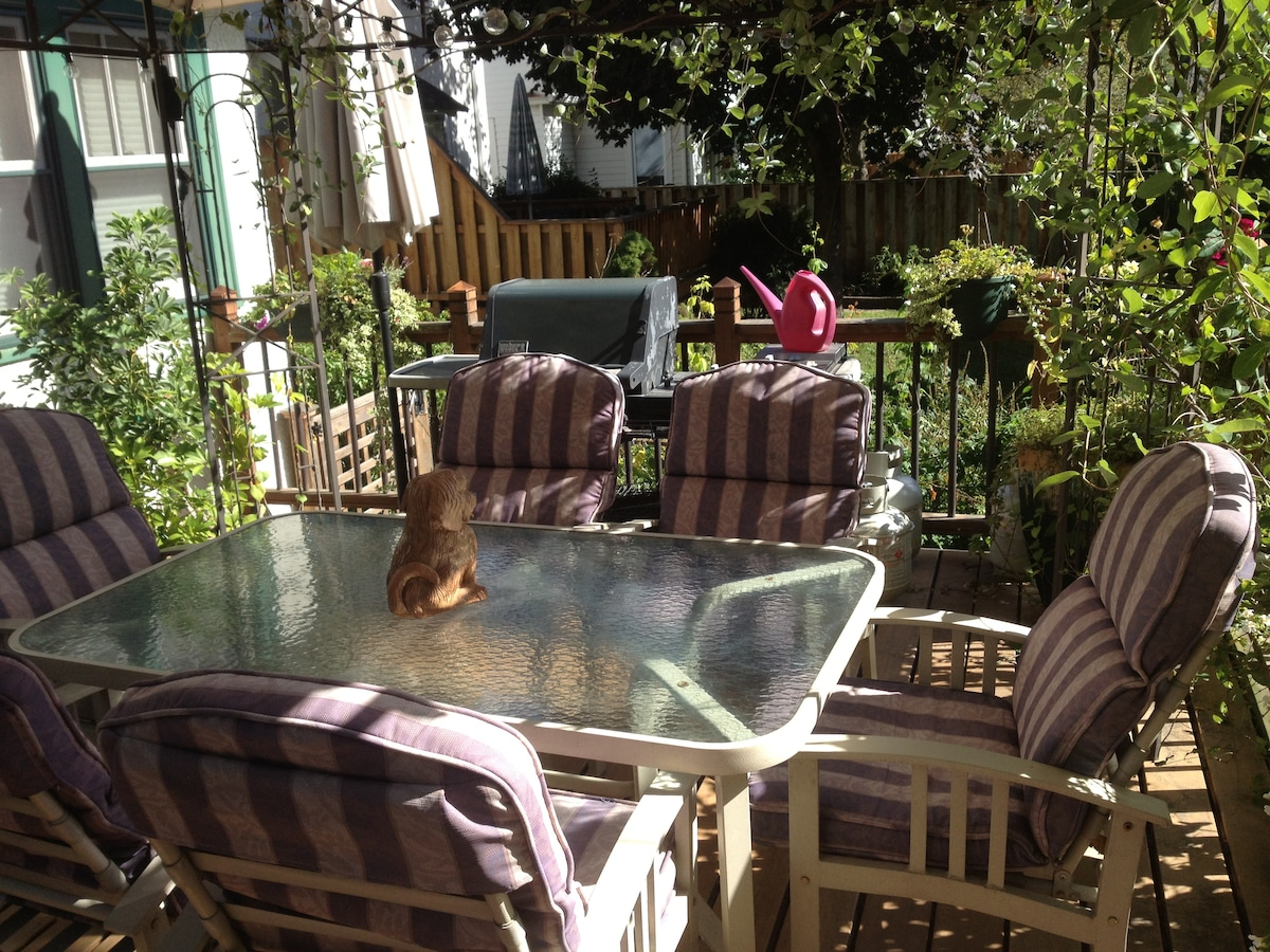 Garden Deck with canopy
