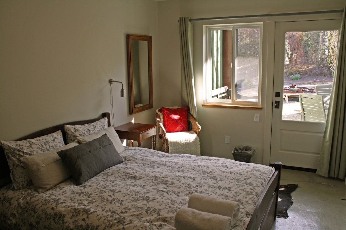Comfy and clean rooms.