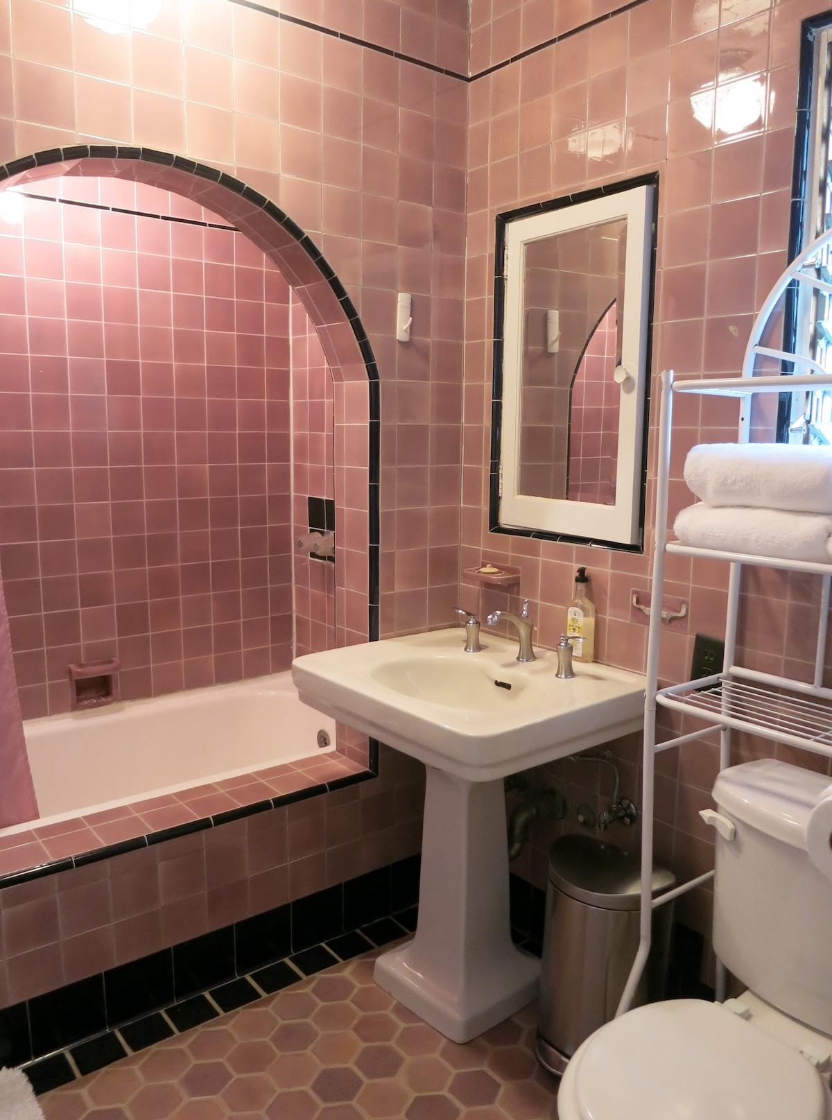 Private 1920's Bathroom with Rain Shower