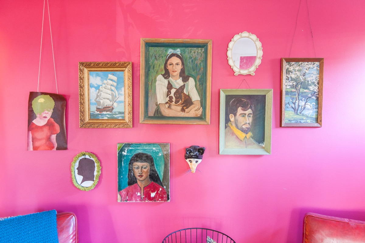 My thrift store and kid art collection