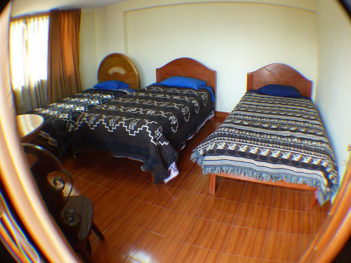 Our triple room.