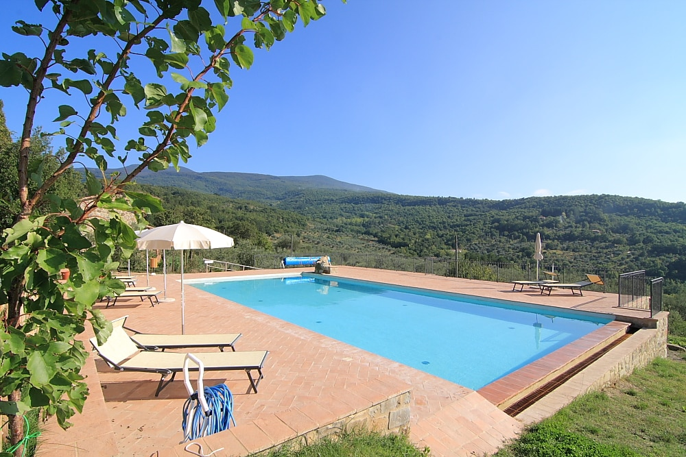 Pool and panoramic view of the countryside
