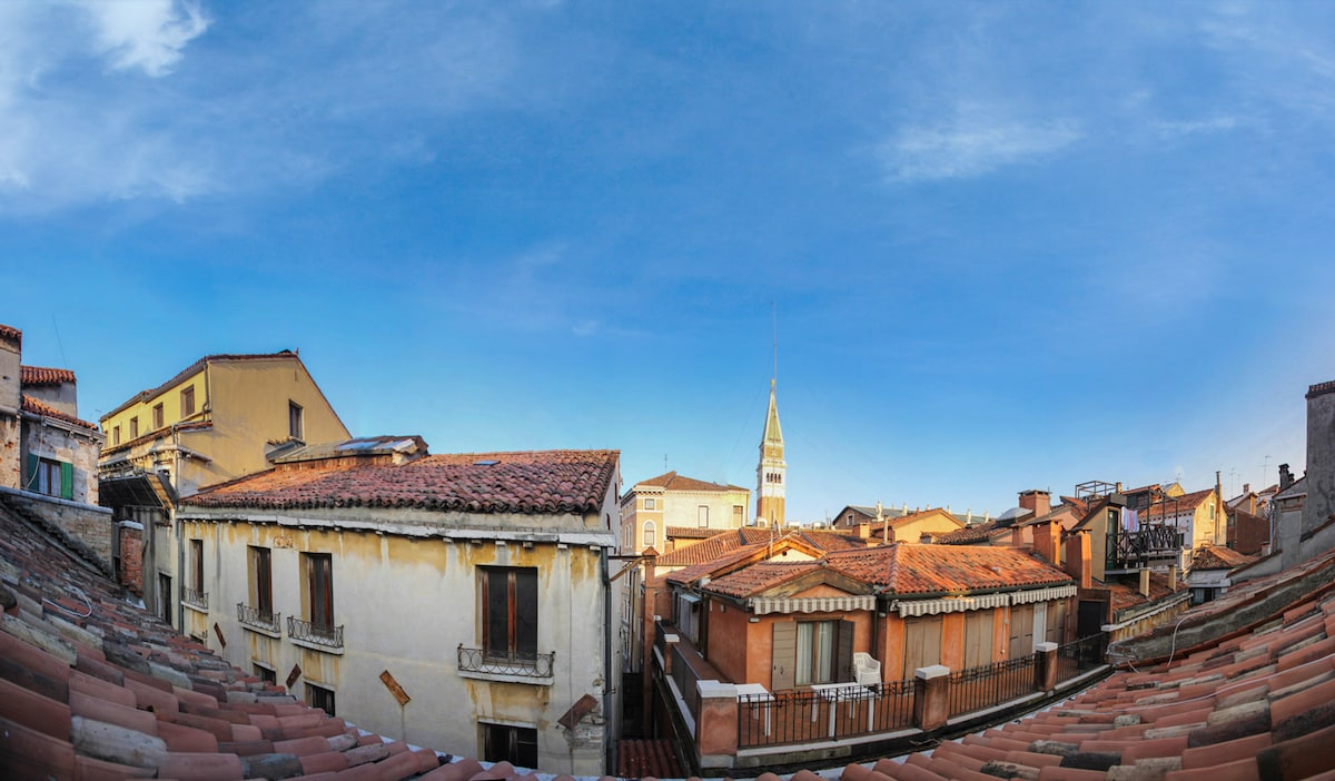 Panoramic view from the window of the San Marco Bell Tower.