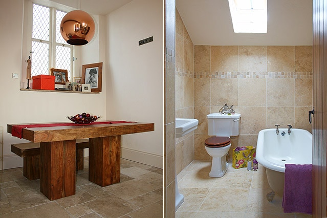 Kitchen table and your private bathroom.