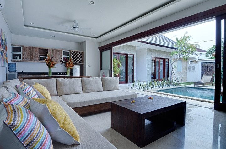 All furniture was made in Bali and decorated using a local Sanur artist