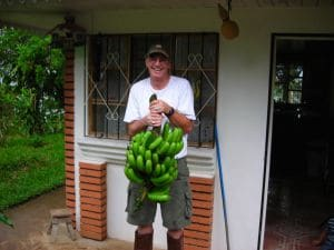 Five different types of bananas grow here