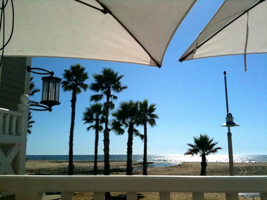 Santa Monica Beach, a few blocks away...