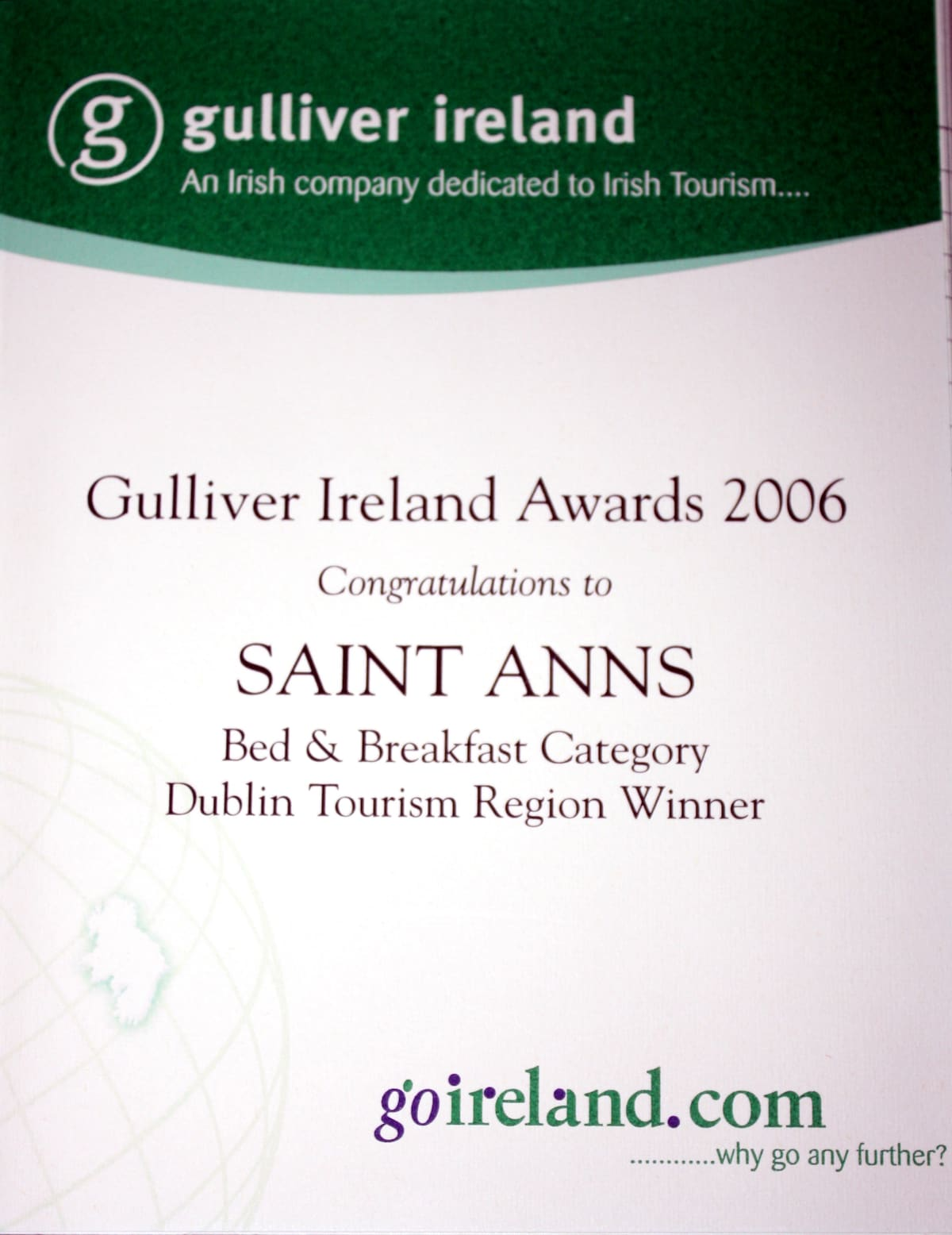 One of our Awards...
