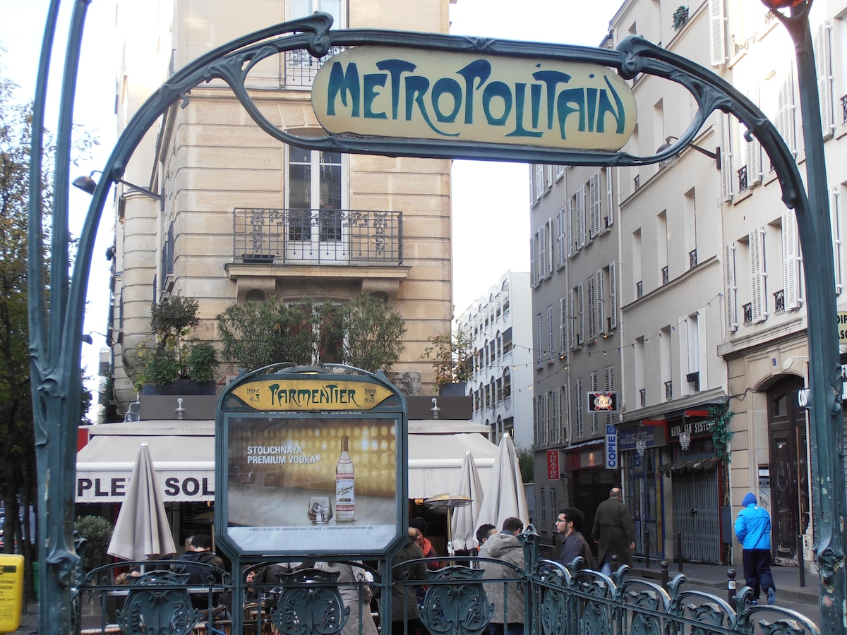 One of the metro close by : Parmentier